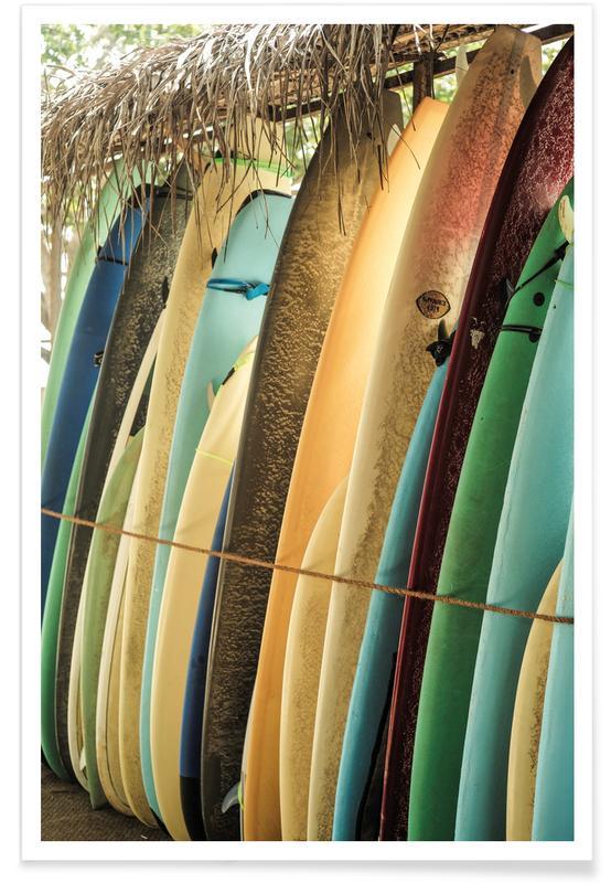 Surfen, Reise, Ceylone Sliders -Poster