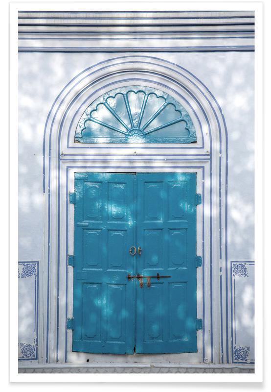Architekturdetails, Blue Door -Poster