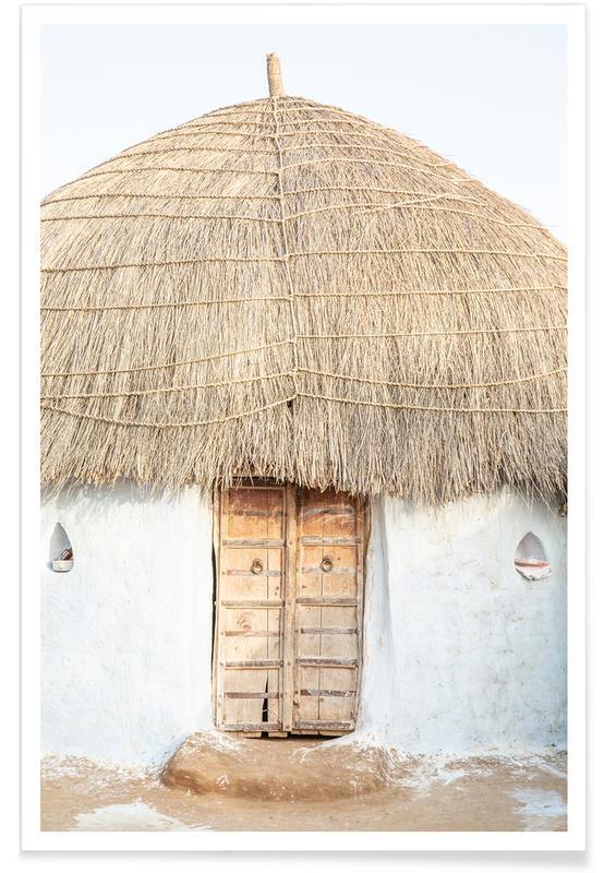 Architekturdetails, Reise, Desert Hut -Poster