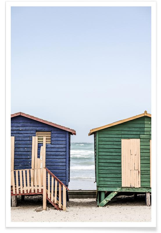 Reise, Blue & Green Hut -Poster