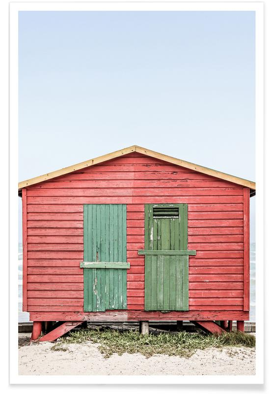 Travel, Red Hut Poster