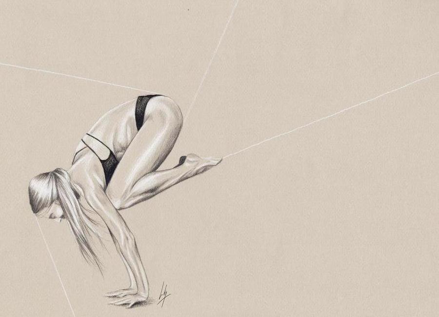 Yoga 1 canvas doek