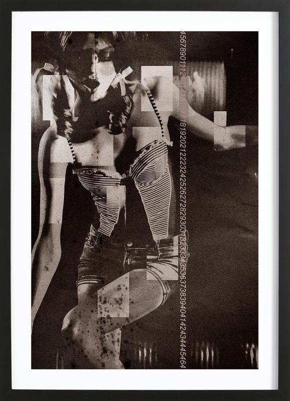 Daizy -Bild mit Holzrahmen