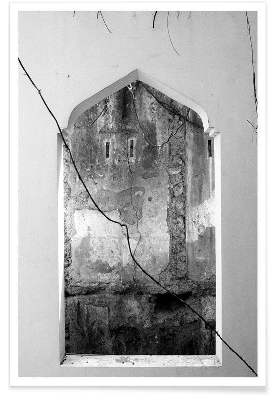 Détails architecturaux, Noir & blanc, Picture Window affiche
