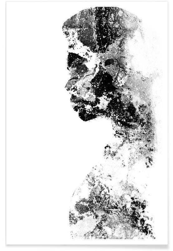Porträts, Schwarz & Weiß, Magnetism 2 -Poster