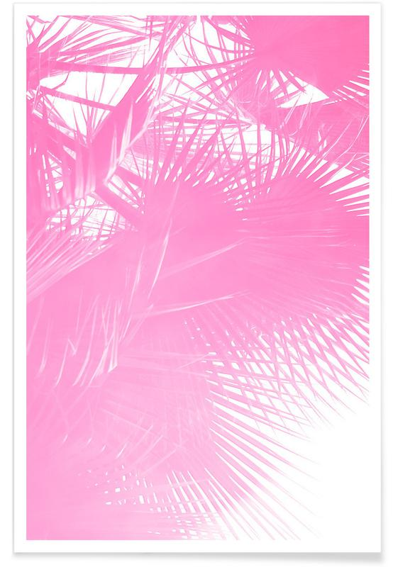 , Pink Palm Poster