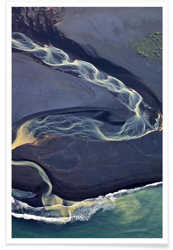 , Blue river and its variations affiche