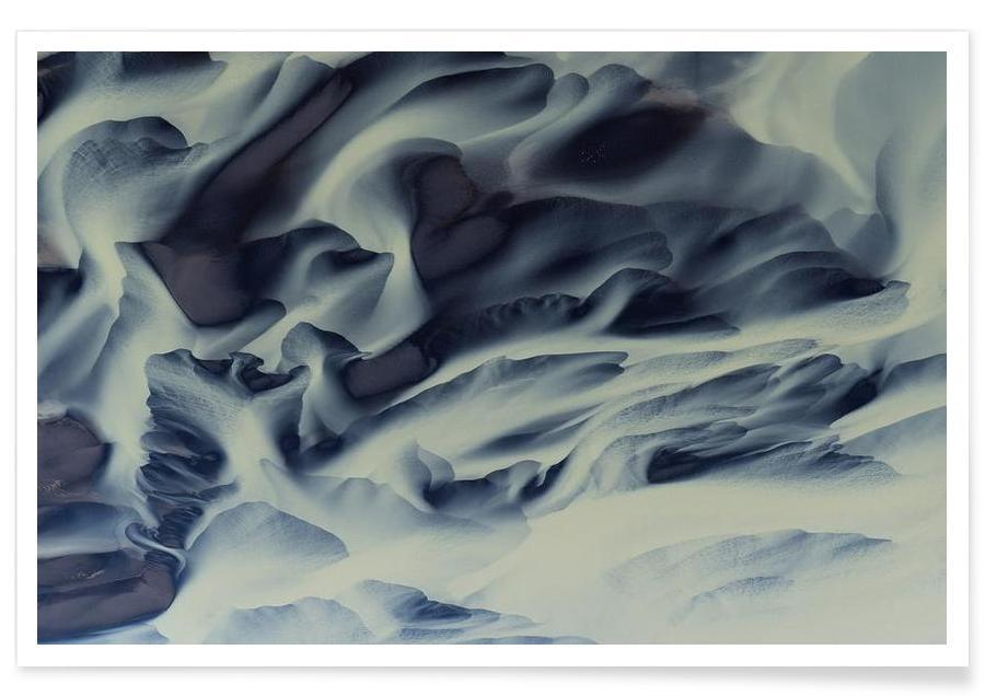 , The abstraction in blue shades affiche