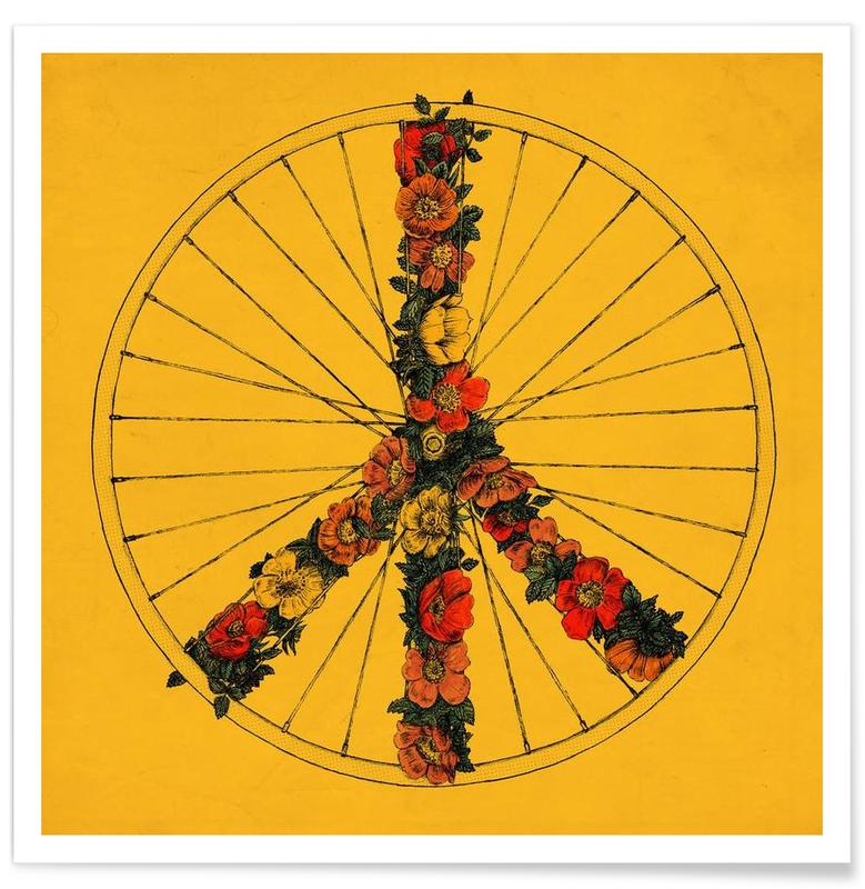 Peace & Bike Poster