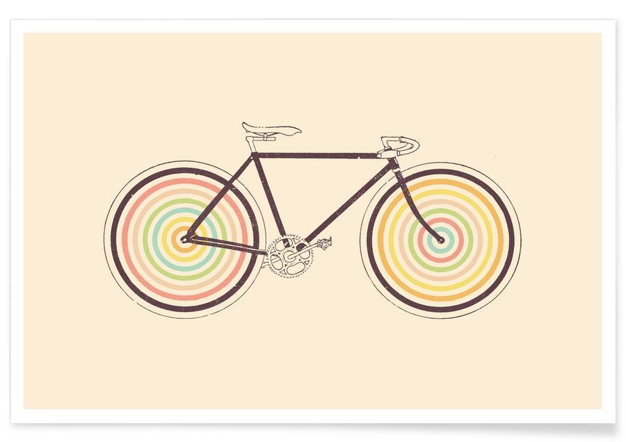 Fahrräder, Velocolor -Poster