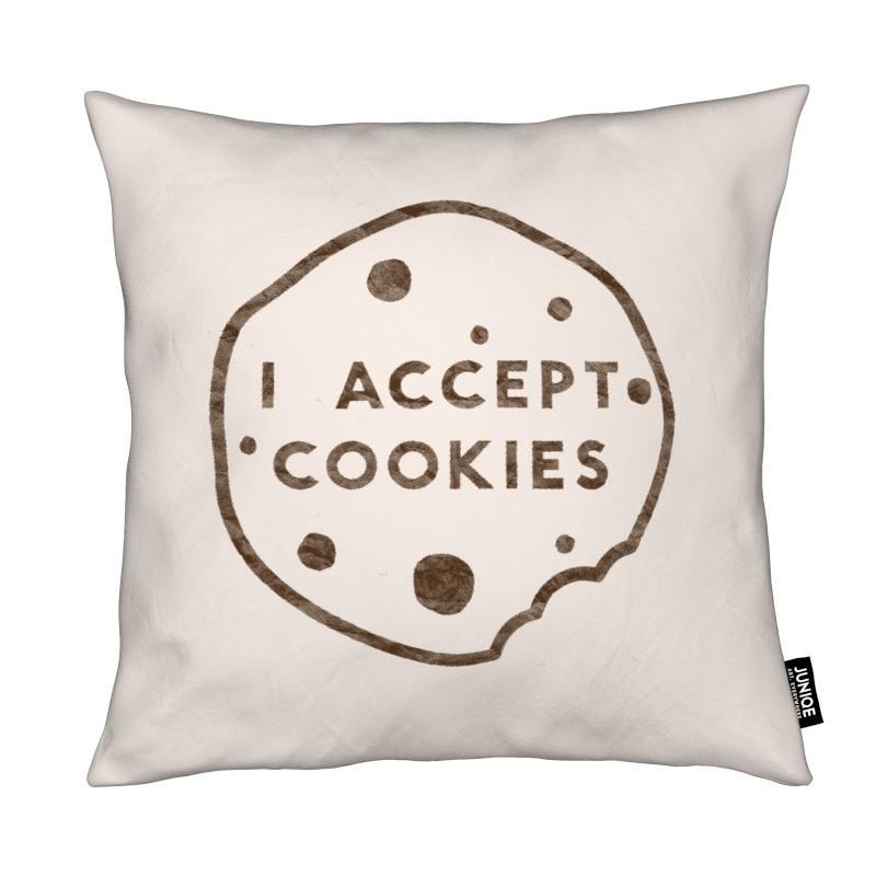 Citations et slogans, I Accept Cookies coussin