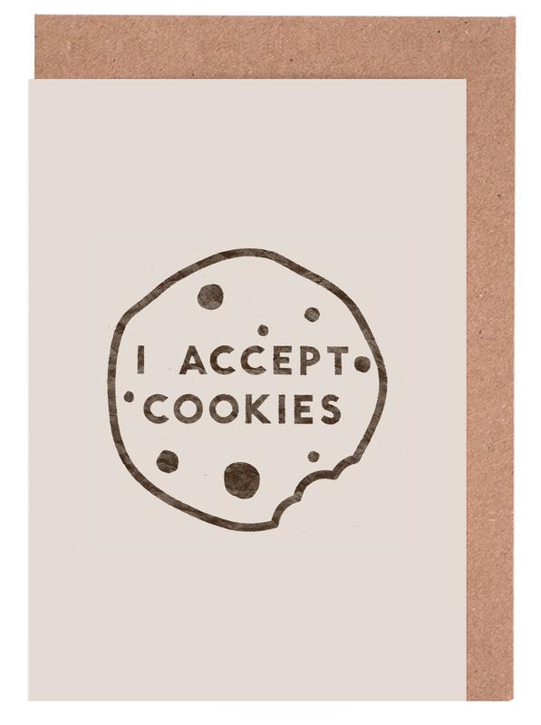 Zitate & Slogans, I Accept Cookies -Grußkarten-Set