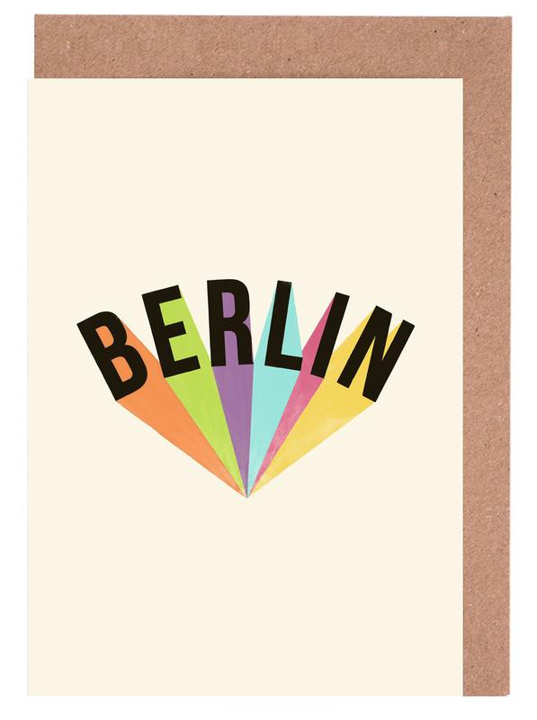 Berlin, Berlin Typography Greeting Card Set
