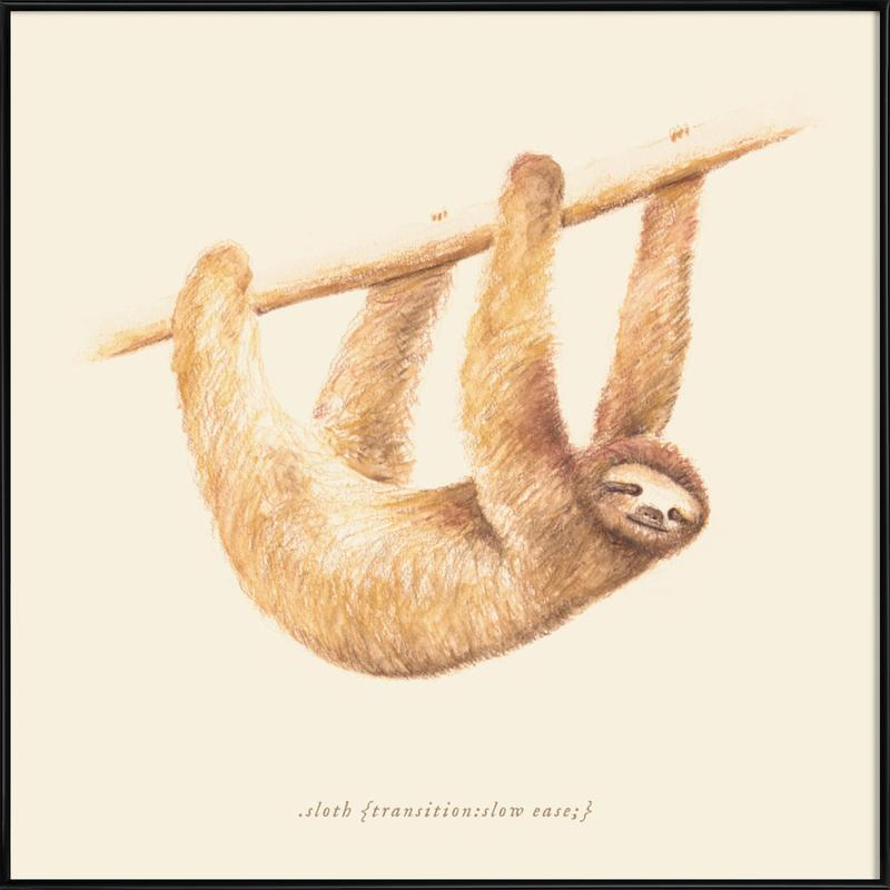 Sloth Framed Poster