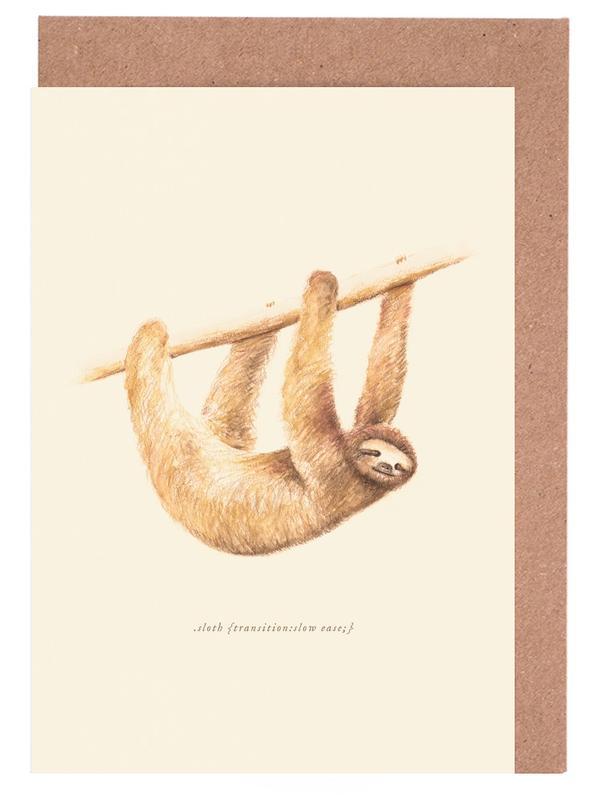 Sloth cartes de vœux