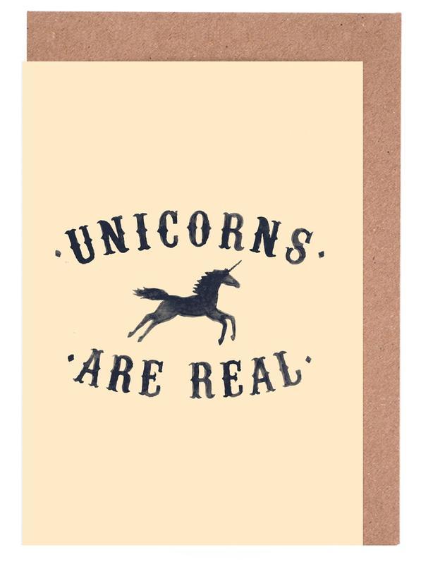 Unicorns Are Real I -Grußkarten-Set