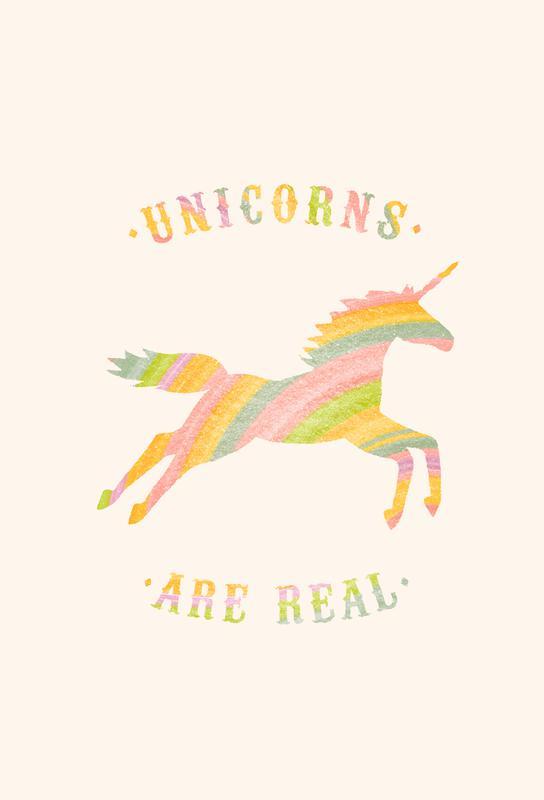 Unicorns Are Real II Aluminium Print