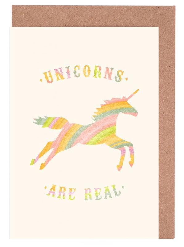 Lustig, Einhörner, Unicorns Are Real II -Grußkarten-Set