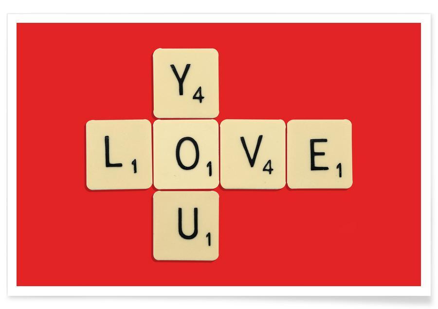 Anniversaires de mariage et amour, Citations d'amour, I Love You affiche