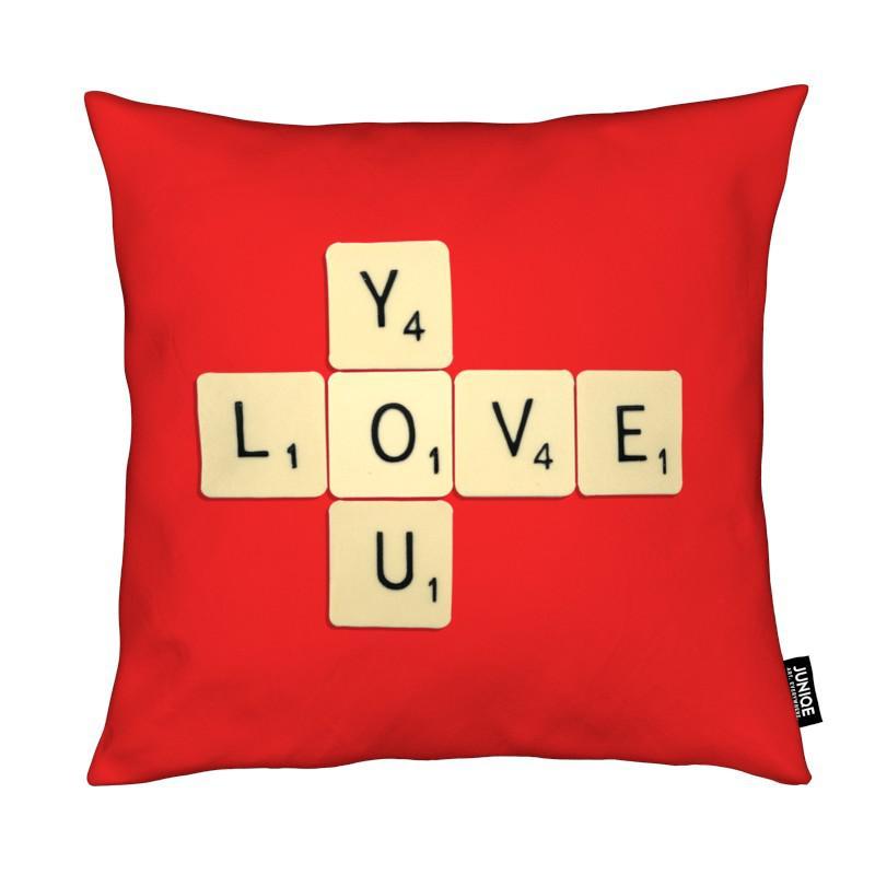 Anniversaires de mariage et amour, Citations d'amour, I Love You coussin