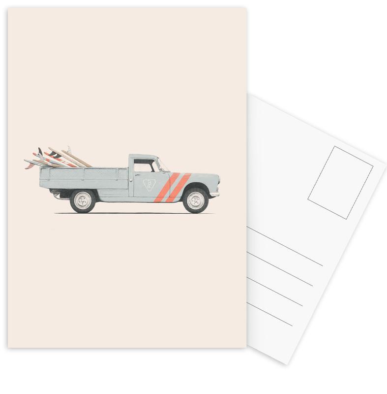 Art pour enfants, Surf, Voitures, Pick Up cartes postales