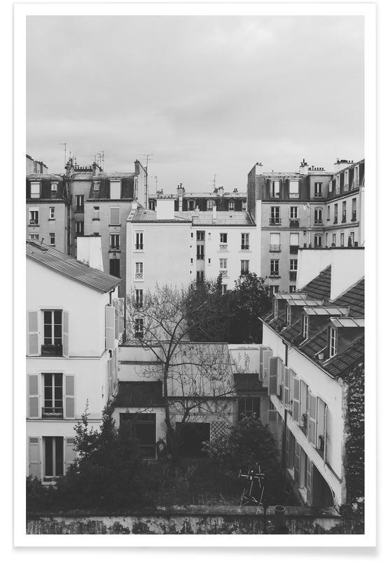 Schwarz & Weiß, Paris, Paris BW -Poster