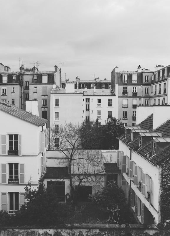 Paris BW toile