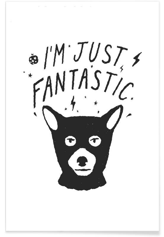 Renards, Humour, Noir & blanc, I'm Just Fantastic affiche