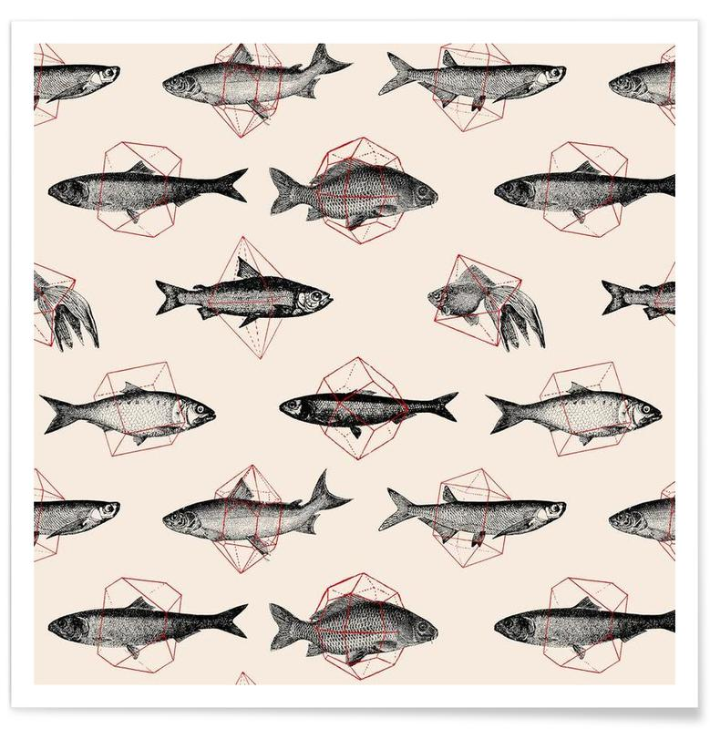 Fishes in Geometrics affiche