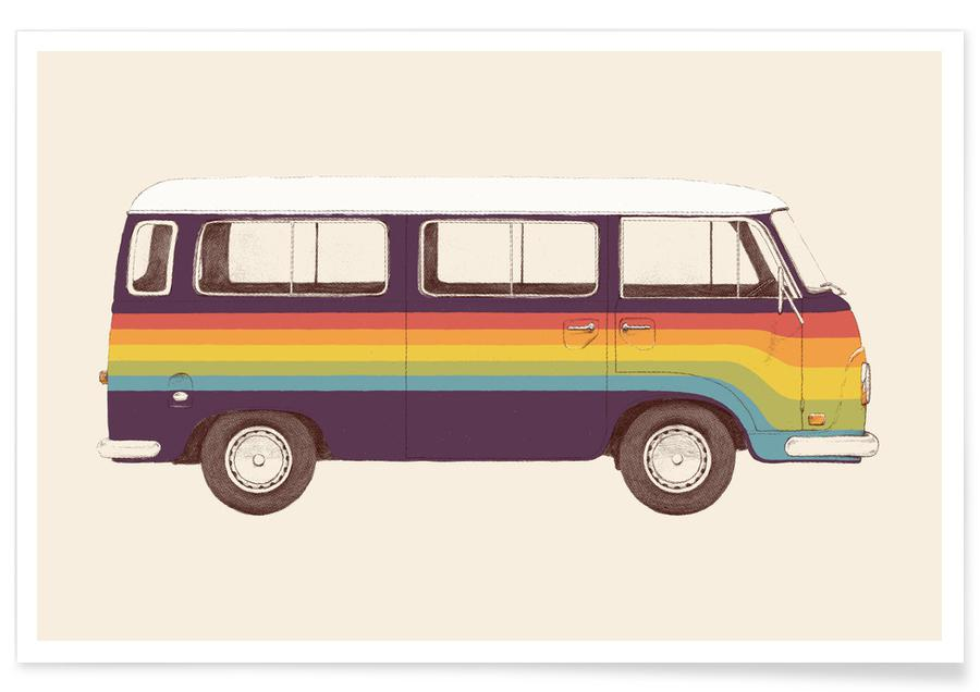 Autos, Van Rainbow -Poster