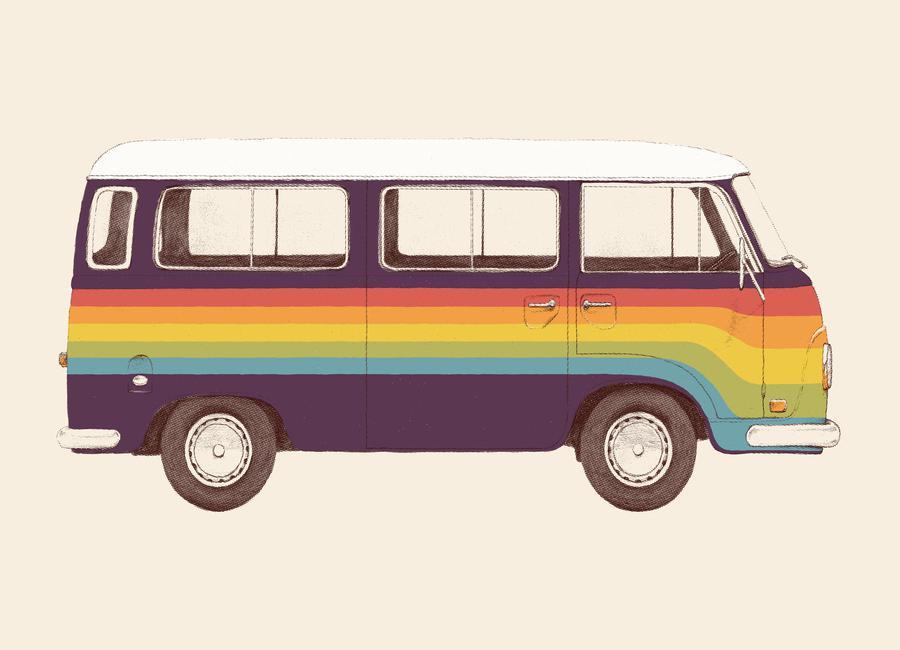 Van Rainbow Canvas Print