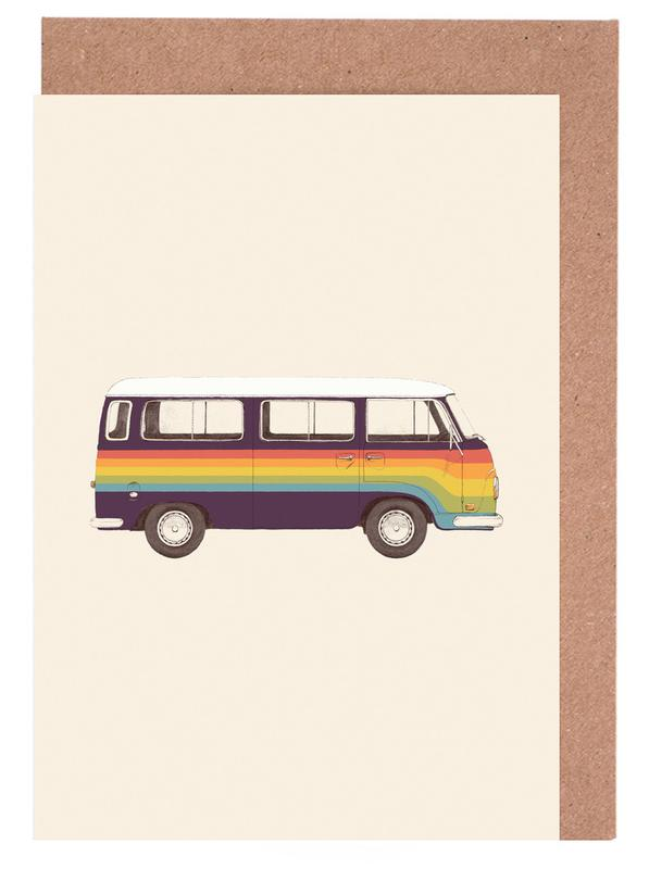Van Rainbow Greeting Card Set