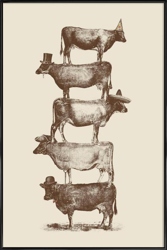 Cow Cow Nuts Framed Poster