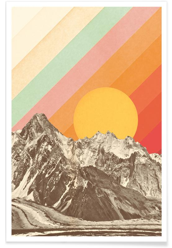 Bjerge, Mountainscape Plakat