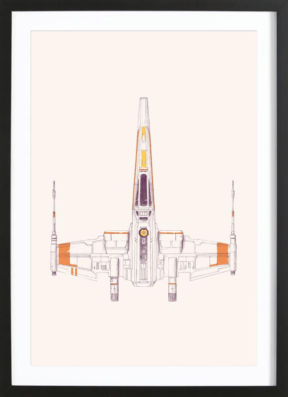 X Wing Framed Print