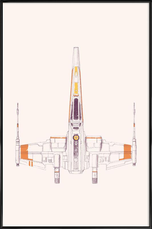 X Wing Framed Poster