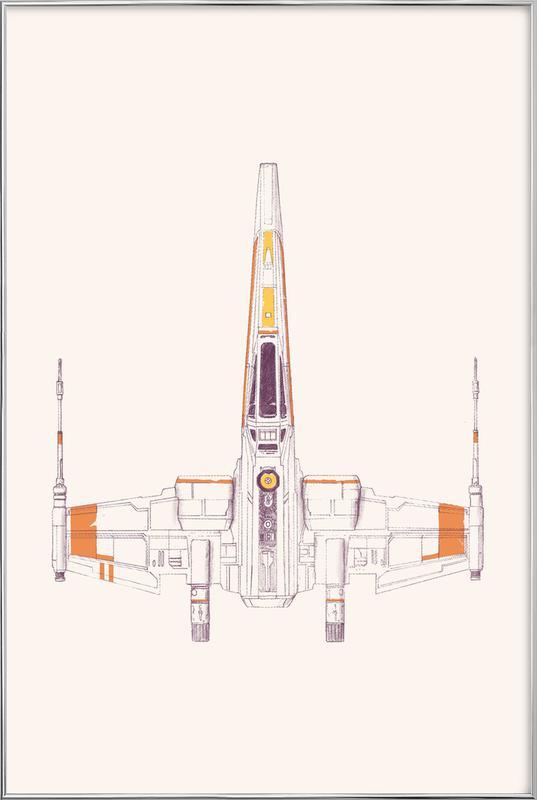 X Wing Poster in Aluminium Frame