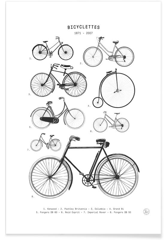 Fietsen, Bicyclettes poster