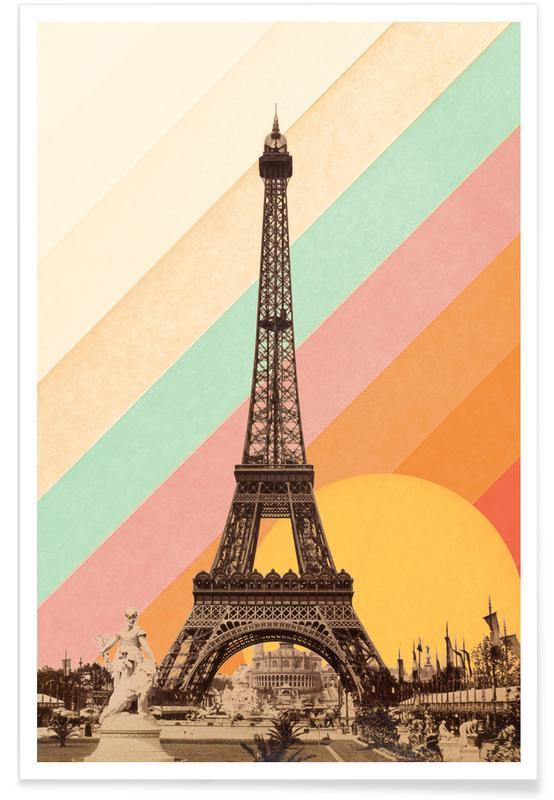 Paris, Monuments et vues, Eiffel Tower Rainbow affiche