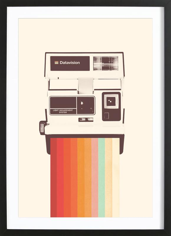 Instant Camera Rainbow Framed Print