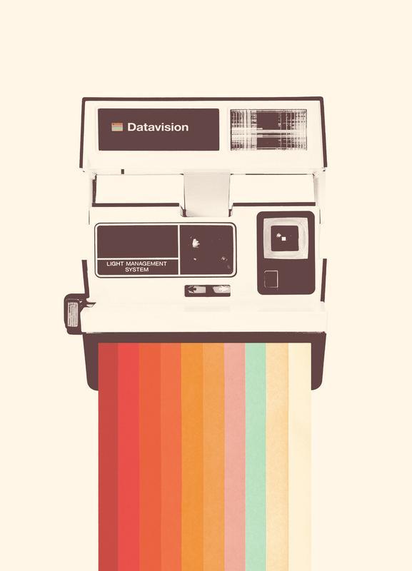 Instant Camera Rainbow toile