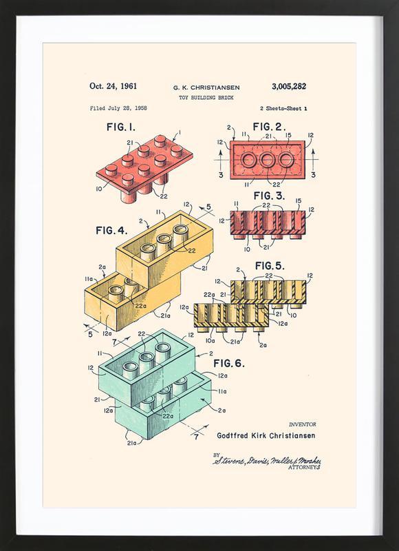 Lego PRINT Colors -Bild mit Holzrahmen