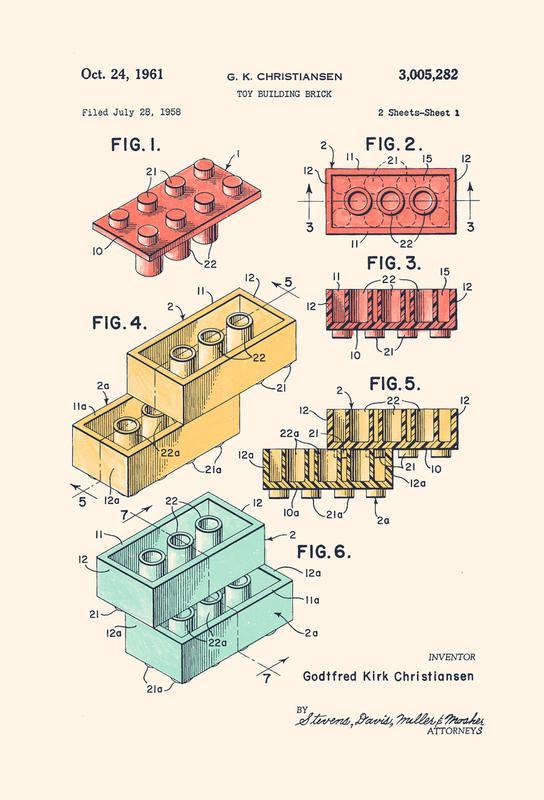 Lego PRINT Colors -Alubild