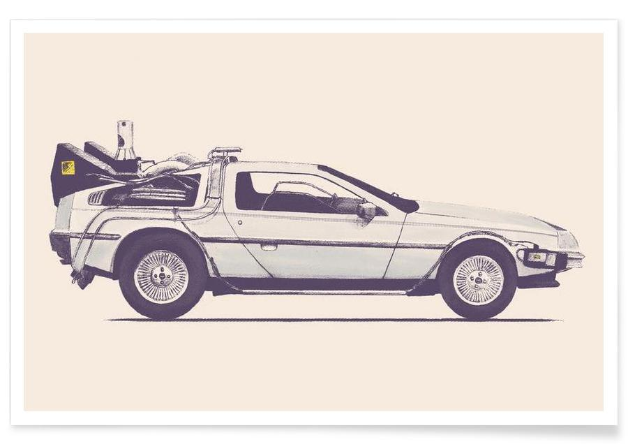 Delorean - Back to the Future Plakat