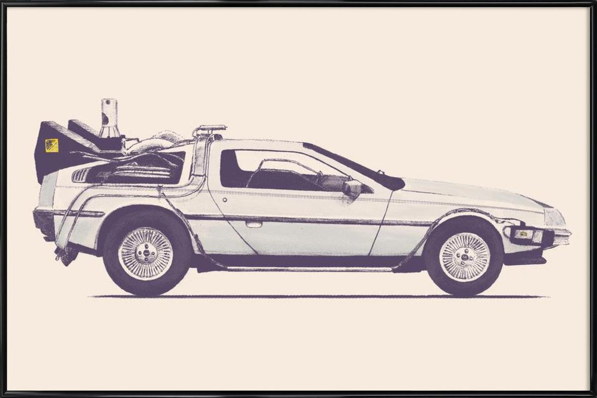 Delorean - Back to the Future Framed Poster