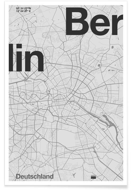 Berlin Minimalist Map Poster