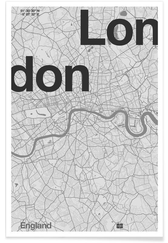 London Minimalist Map Poster