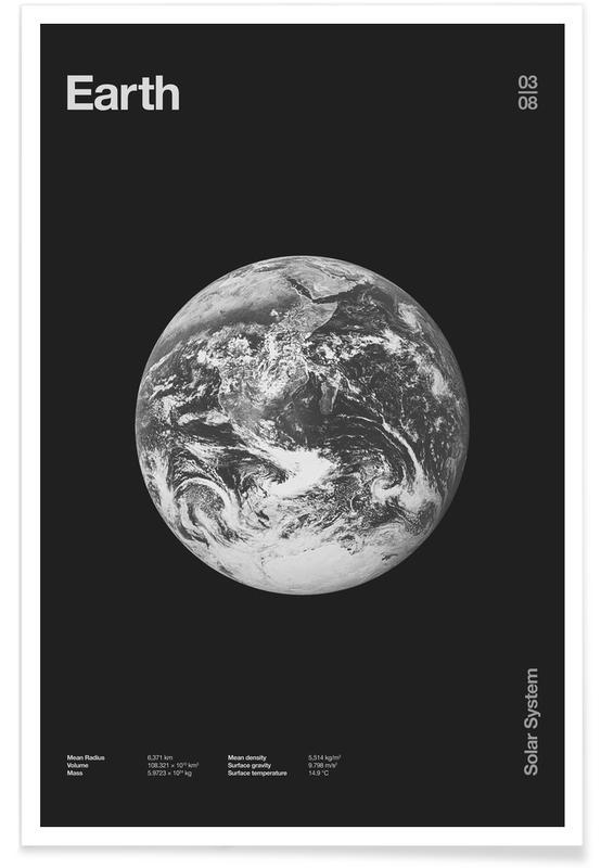 Schwarz & Weiß, Earth -Poster