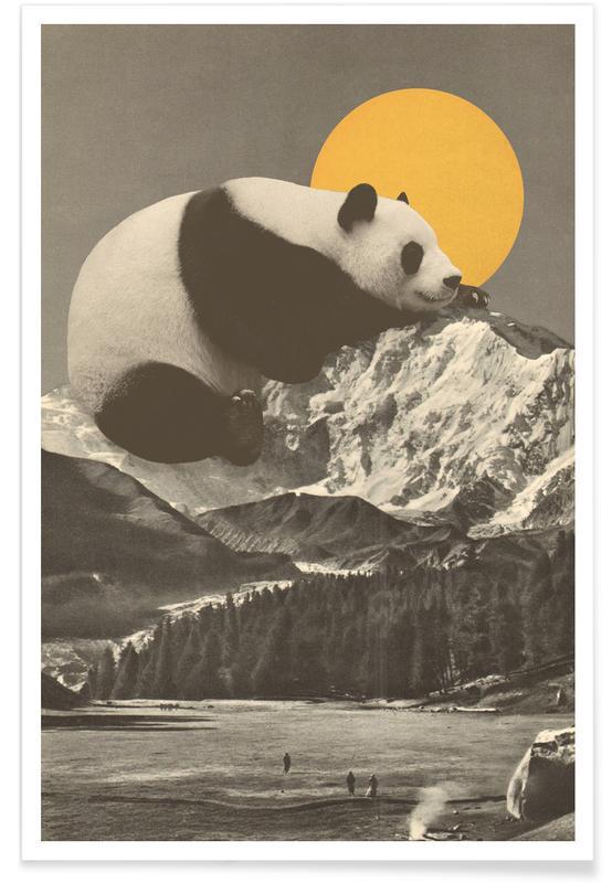 Art pour enfants, Rêve, Pandas, Panda Nap affiche