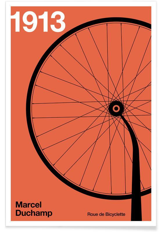 Fahrräder, 1913 Roue De Bicyclette -Poster